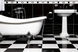 The decision to go black and white in this bathroom is timeless.