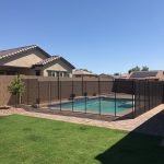 Building a fence around your pool is a wonderful childproofing tip for homes with this feature.